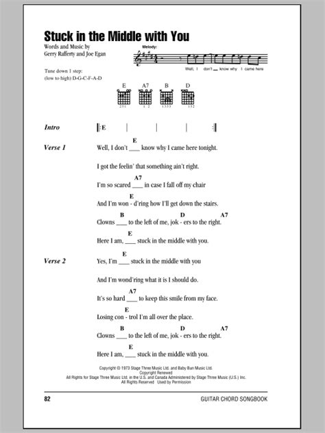 Stuck In The Middle With You Sheet Music | Stealers Wheel