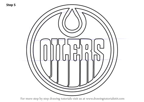 Learn How to Draw Edmonton Oilers Logo (NHL) Step by Step