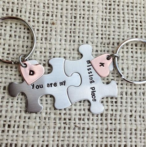 Puzzle piece Keychains set you are my missing piece his and