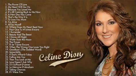 Celine Dion - BEST Songs Ever for 2018 - YouTube