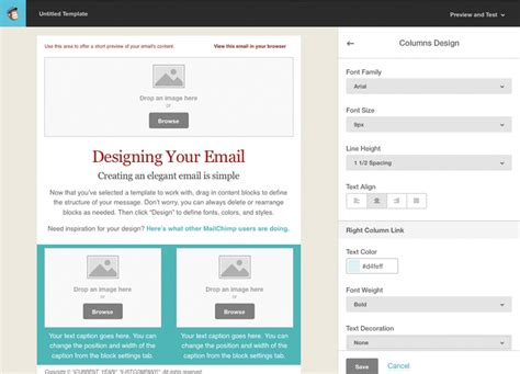 Tutorial for Creating a Custom Email Template in MailChimp