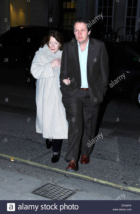 Kevin Whately with his wife, Madelaine Newton, at the BBC