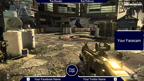 Twitch Overlay Call of Duty Ghosts #2 ( Free PSD Download