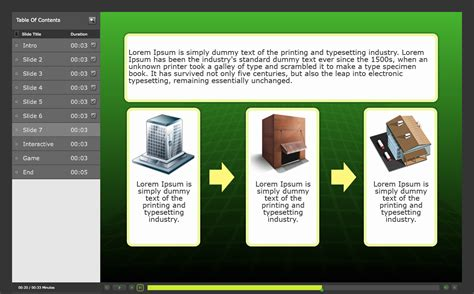 Captivate 6 Example eLearning Course Using Templates