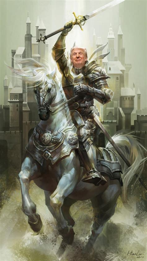 Knight in Shining Armor   Donald Trump   Know Your Meme