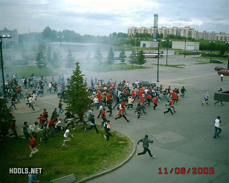 11 June 2005: Zenit and Spartak Moscow hools clash in pre