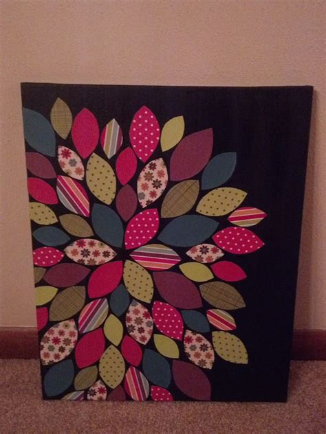 Crafts and Photography: Canvas & Scrapbook Paper Wall Art