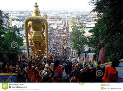 Thaipusam Festival: From The Top Of Batu Caves Editorial