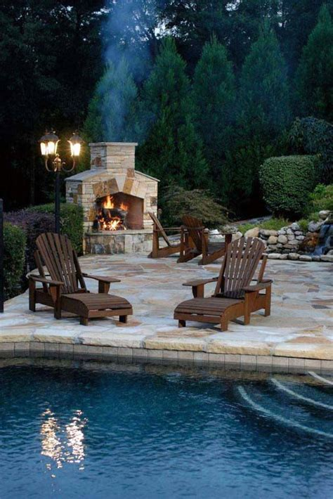70 Outdoor Fireplace Designs For Men - Cool Fire Pit Ideas