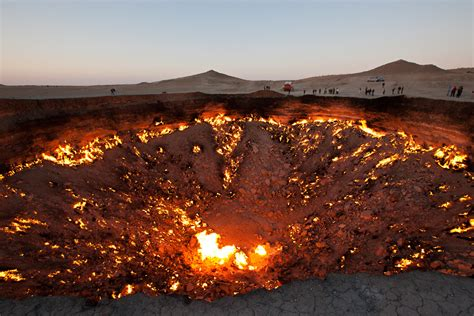 There's a 225 ft Gas Crater in Turkmenistan That's Been