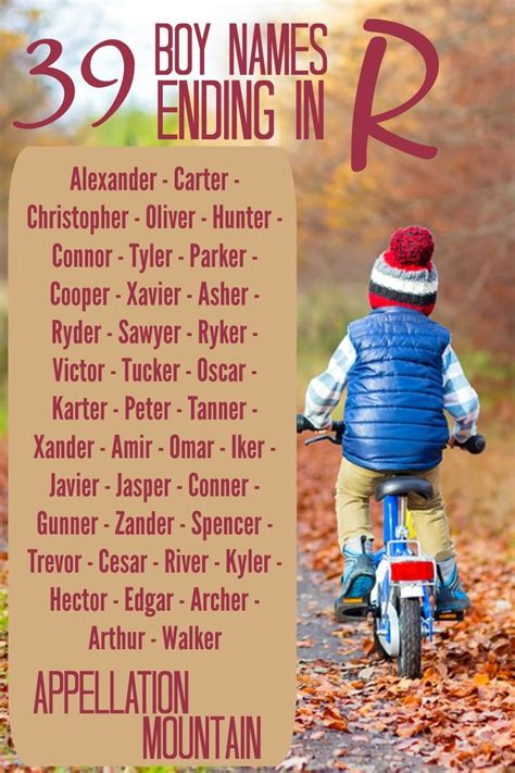 Boy Names Ending in R: The 78 Most Popular | Baby names
