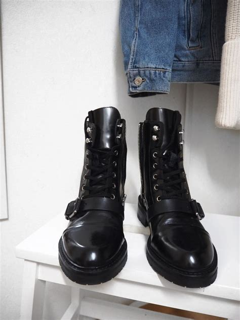 Allsaints Donita Black Boots, as seen on Madison Beer