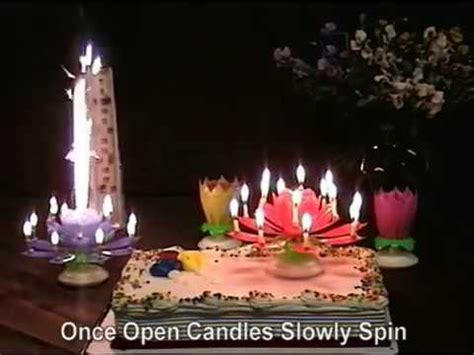 Lotus Flower Musical Birthday Candles - YouTube
