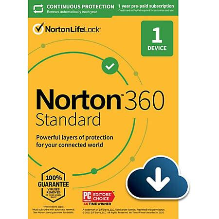 Norton 360 Standard for 1 device - Office Depot