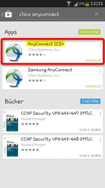 VPN mit Cisco AnyConnect unter Android 4
