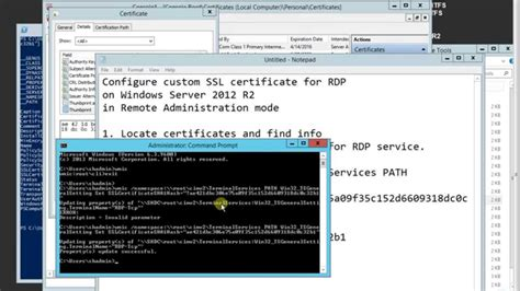 How to Configure custom SSL certificate for RDP on Windows