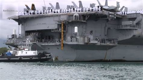 USS Kitty Hawk Aircraft Carrier - Arrival at Pearl Harbor
