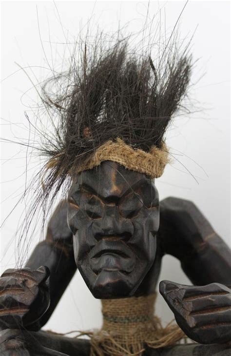 Hand Carved Wooden African Tribal Medicine Wise Man Wood