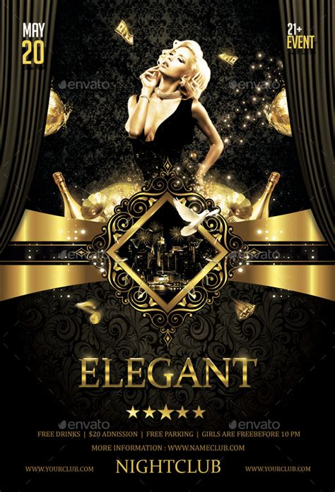 Elegant Party Flyer by butu85 | GraphicRiver