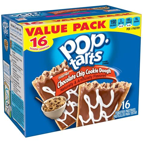 KELLOGGS POP-TARTS FROSTED CHOCOLATE CHIP COOKIE DOUGH 16