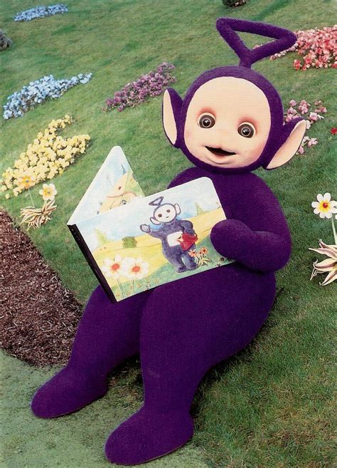 Tinky-Winky of the Teletubbies   Dutch postcard by