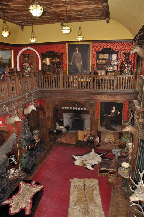 Kinloch Castle | the great hall full of items collected