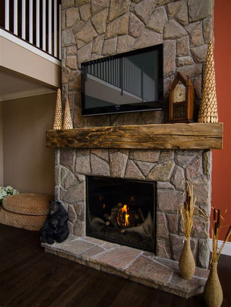 Barn Beam Mantel Home Design Ideas, Pictures, Remodel and