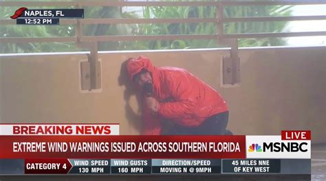 In hurricane coverage, TV correspondents face danger they