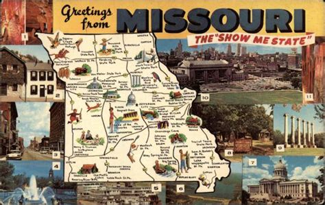 """Greetings From Missouri, The """"Show Me State"""" Maps"""