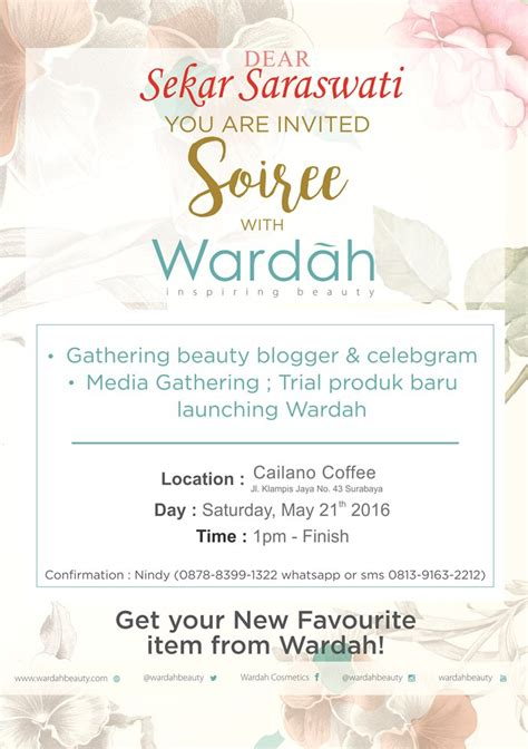 Crochet and Lipstick: Soiree with Wardah