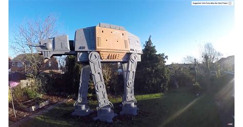 Colin Furze Built a Giant Star Wars AT-ACT in His Backyard