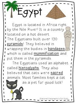 All About Egypt! Writing, math and more! | TpT