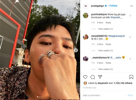 BIGBANG's G-Dragon Sparks Comeback Rumours With His Recent