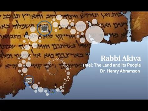 Who Was Rabbi Akiva? Israel: The Land and its People with