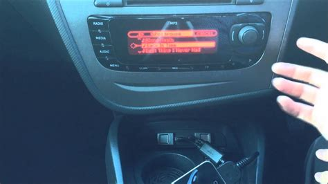 Seat Leon MK2 Facelift USB iPod/iPhone Connection - YouTube