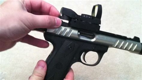 New Ruger 2245 Lite Version with Red Dot Sight - YouTube