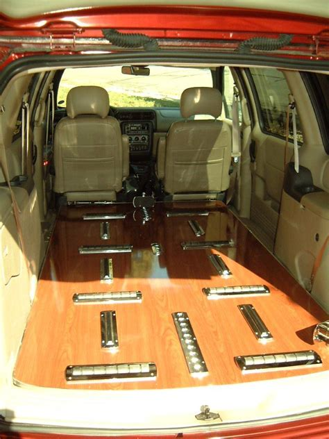 Inside of Oldsmobile Mini-hearse | The inside of the
