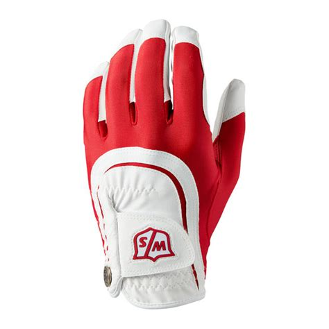 Golf House - Wilson Staff - Fit All Handschuh - rot